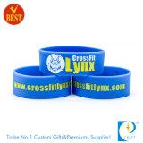 Wristband stampato all'ingrosso su ordinazione del silicone con colore solido