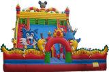 Châteaux plein d'entrain de matériel gonflable géant de parc d'attractions