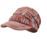 Sombrero de encargo de la gorrita tejida del sombrero POM POM del Knit del telar jacquar del sombrero del invierno del sombrero de acrílico de la gorrita tejida