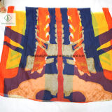 Signora stampata lunga Fashion Silk Scarf dello scialle della spiaggia