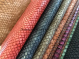 Cuero de la serpiente de la PU para el sofá / Muebles / señora Bag con resistencia al fuego