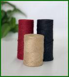 Gefärbtes Jutefaser-Garn (Schwarzes) für die Gestaltungsarbeits-Herstellung