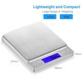 escala de peso da precisão da capacidade elevada de 2000g 0.1g LCD Digital
