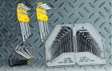 14PCS Metic & Imperial Cr-V Steel Wrench Allen Key Hex Key Set