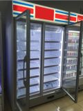 Congelatore dritto della vetrina del ristorante/congelatore dritto della visualizzazione qualità di Hight