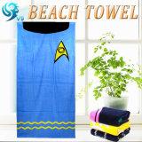 昇進の編まれたビーチタオル