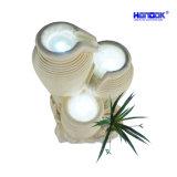 Sandstein-runder Glas-Wasser-Brunnen der Ausgangs-u. Garten-Dekoration-LED