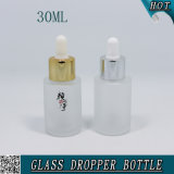 Vetro della bottiglia 30ml del contagoccia glassato estetica vuota dalla 1 oncia