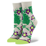 O logotipo personalizado Fashion Patten mulheres vestir meias