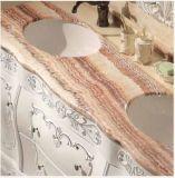 Festes Holz-Badezimmer-Schrank mit natürlichem MarmorCountertop