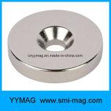 De sterke Countersink van het Neodymium Magneet van de Ring met het Gat van de Schroef