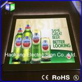 Signe acrylique en cristal de bière de cadre léger de cadre de tableau de DEL pour le panneau d'affichage fixé au mur