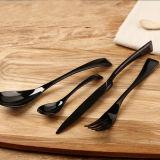Flatware черного Cutlery зарева нержавеющей стали установленный