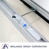 3 comitati raddoppiano la tenda di alluminio di vetro Windows, prezzo dei blocchi per grafici di finestra di alluminio