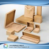 Het houten Horloge van het Karton/Juwelen/de Reeks van de Doos van de Verpakking van de Vertoning van de Gift (xc-hbj-026)