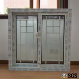 Vidrio doble con la ventana de desplazamiento blanca del perfil del color UPVC de la red, ventana de UPVC, ventana K02096