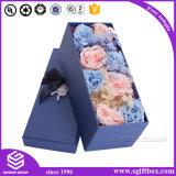 El logotipo de lujo en el embalaje personalizado imprimir el papel de regalo rosa caja de flores