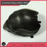 Casco ligero al por mayor de la motocicleta de la cara llena de la fibra del carbón