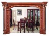 Porta de madeira maciça que cinzela a moldagem da janela do jambo (GSP17-004)