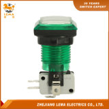 33.4mm carrés plastique électrique Interrupteur à bouton poussoir vert Pbs-008