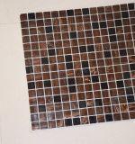 Heißes verkaufendes hölzernes Licht 2017 und dunkles Brown-quadratisches Glasmosaik für Verkauf
