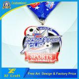 中国の製造者(XF-MD04)からの金の終わりを用いるカスタム記念品の金属メダル