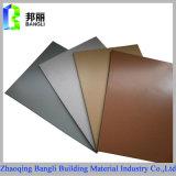 Materiale da costruzione per la decorazione Using il comitato composito di alluminio di colore d'argento