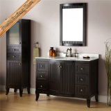 Шкаф ванны тщеты ванной комнаты твердой древесины верхнего качества изогнутый