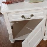 Home Furniture Series White Paint Gabinete de cabeceira de carvalho vermelho (GSP14-012)