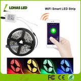 Tuya APP RGB/RGBW controlado Waterproof a luz de tira esperta do diodo emissor de luz de WiFi