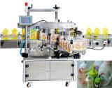 Máquina de etiquetado plana de las caras del doble de la botella para el vario tarro cuadrado plano de la botella