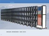 Porte grillagée magnétique escamotable de portes de tempête de porte
