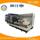 Tubo horizontal de China que rosca la máquina del torno del CNC