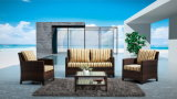 全天候用アルミニウム屋外の庭の家具のソファーは倍(YT020)によってセットした