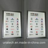 Contenitore chiaro Backlit di carta di pubblicità dell'interno LED della bandiera della pellicola della locanda pp della Banca di parete sottile della visualizzazione