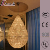 Wasser-Absinken-Form-Hotel-Luxuxhängende Kristalllampe K9