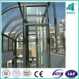 Elevatore facente un giro turistico con l'acciaio inossidabile della linea sottile