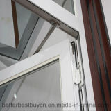 Weißes Aluminiumfenster mit Flügelfenster-Öffnung