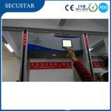 Alarme das zonas do detetor de metais do frame de porta multi