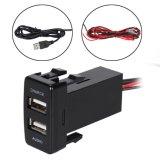 Doppel-Port USB-Auto-Aufladeeinheit mit Audiokontaktbuchse für Toyota-Serie