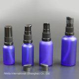 Bottiglia di olio di vetro blu glassata con la pompa della lozione, bottiglia del contagoccia (NBG24A)
