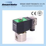 Válvula solenoide de alta presión de 12 VCC de 2 vías Ss304