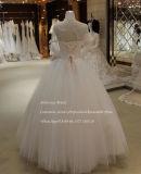 Cuello cuadrado muestra Real venta vestido de novia