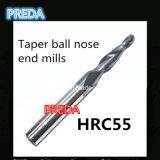 Preda cono de nariz Molino de bolas final Herramientas de HRC55