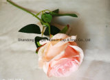 인공 실크 꽃 직물 꽃 단 하나 로즈 의 실제적인 접촉
