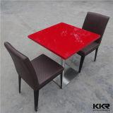 Premier Tableau de marbre extérieur solide rouge moderne de restaurant