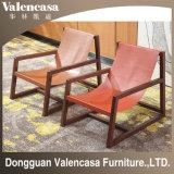 Кресло для отдыха цельной древесины стул кожаный стул для Домашнего отеля кафе