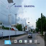 luz de calle solar de la batería de litio 60W de los 9m