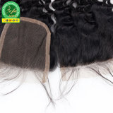 Hochwertige Baby-Haar-natürliche Farben-reales Menschenhaar-Schliessen