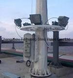 30mのメカニズムを下げ、上げることの高いマストの街灯柱